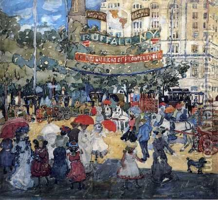 Madison Square by Maurice Brazil Prendergast - Reproduction Oil Painting