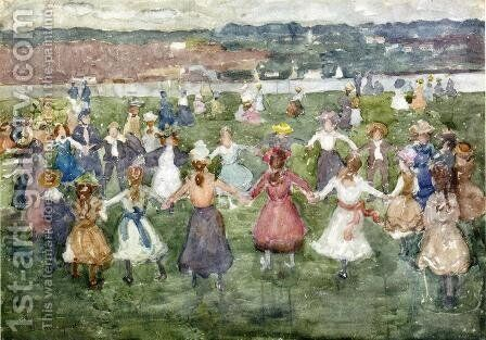 May Day by Maurice Brazil Prendergast - Reproduction Oil Painting