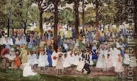 May Day  Central Park Aka Central Park Or Children In The Park by Maurice Brazil Prendergast - Reproduction Oil Painting