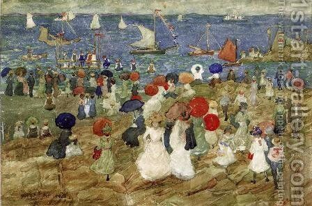 Nantasket Beach 2 Aka Handkerchief Point by Maurice Brazil Prendergast - Reproduction Oil Painting