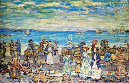 Opal Sea by Maurice Brazil Prendergast - Reproduction Oil Painting