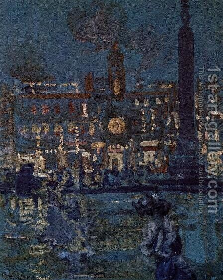 Paris by Maurice Brazil Prendergast - Reproduction Oil Painting