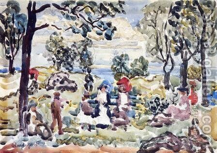 Park  Gloucester by Maurice Brazil Prendergast - Reproduction Oil Painting