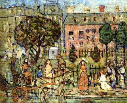 Park  Naples by Maurice Brazil Prendergast - Reproduction Oil Painting