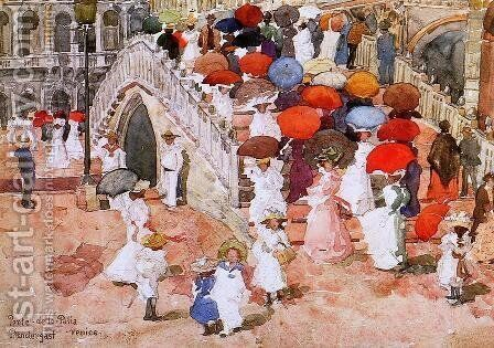 Ponte Della Paglia by Maurice Brazil Prendergast - Reproduction Oil Painting