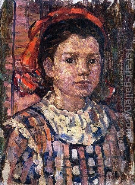 Portrait Of A Young Girl by Maurice Brazil Prendergast - Reproduction Oil Painting