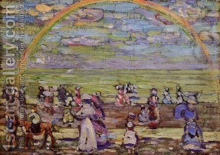 Rainbow by Maurice Brazil Prendergast - Reproduction Oil Painting