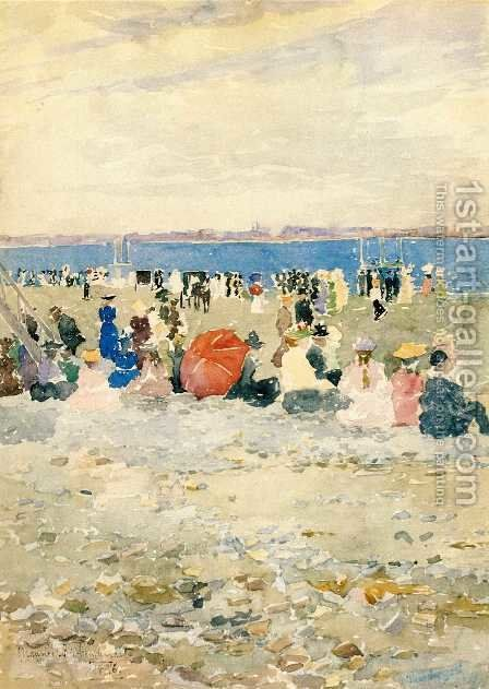 Revere Beach3 by Maurice Brazil Prendergast - Reproduction Oil Painting