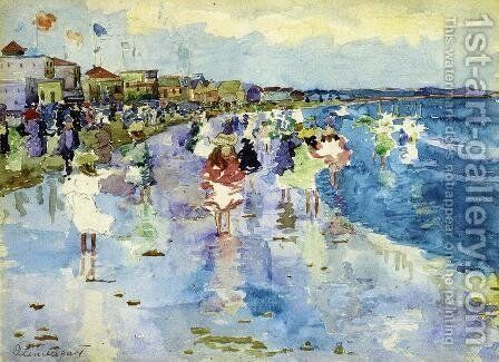 Revere Beach5 by Maurice Brazil Prendergast - Reproduction Oil Painting