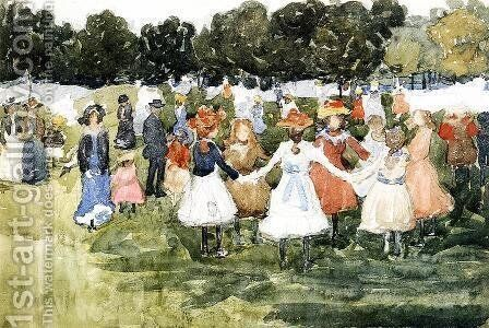 Ring Around The Rosy by Maurice Brazil Prendergast - Reproduction Oil Painting