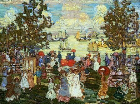 Salem Willows Aka The Promenade  Salem Harbor by Maurice Brazil Prendergast - Reproduction Oil Painting