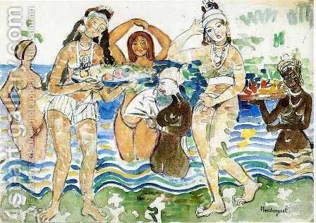 Sea Maidens by Maurice Brazil Prendergast - Reproduction Oil Painting