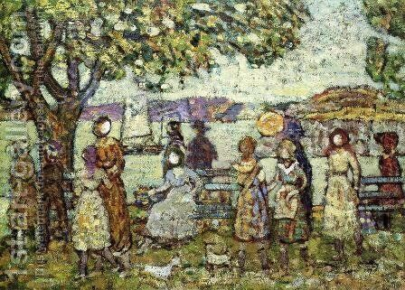 Seashore3 by Maurice Brazil Prendergast - Reproduction Oil Painting