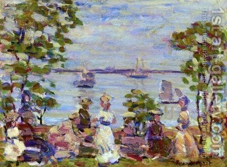 Seaside Picnic by Maurice Brazil Prendergast - Reproduction Oil Painting