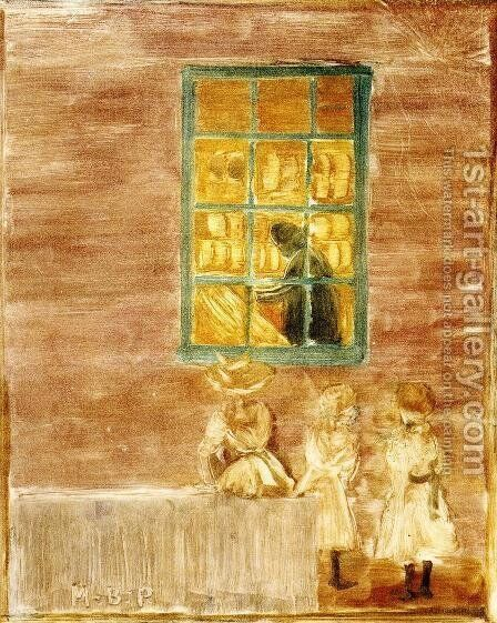Shadow Aka Children By A Window by Maurice Brazil Prendergast - Reproduction Oil Painting