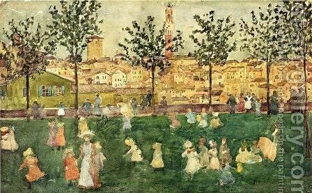 Sienna by Maurice Brazil Prendergast - Reproduction Oil Painting