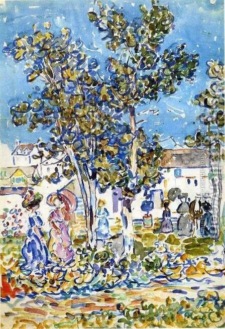 Spring Promenade by Maurice Brazil Prendergast - Reproduction Oil Painting