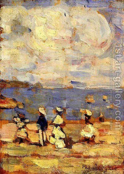 St  Malo3 by Maurice Brazil Prendergast - Reproduction Oil Painting