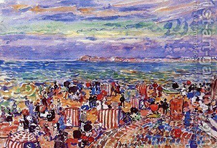 St  Malo No  2 by Maurice Brazil Prendergast - Reproduction Oil Painting