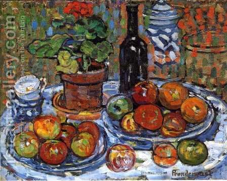 Still Life by Maurice Brazil Prendergast - Reproduction Oil Painting