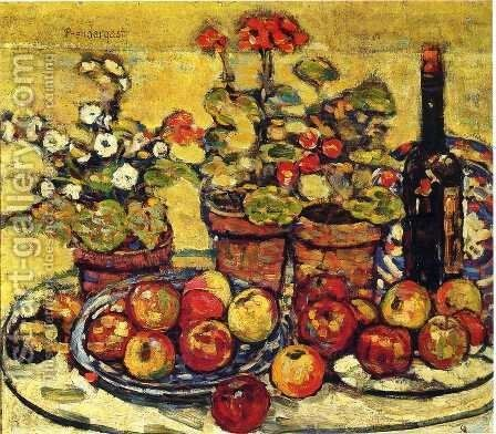 Still Life   Fruit And Flowers by Maurice Brazil Prendergast - Reproduction Oil Painting