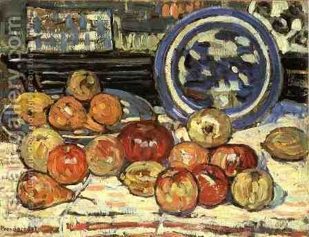 Still Life With Apples by Maurice Brazil Prendergast - Reproduction Oil Painting