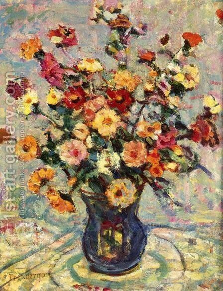 Still Life With Flowers by Maurice Brazil Prendergast - Reproduction Oil Painting