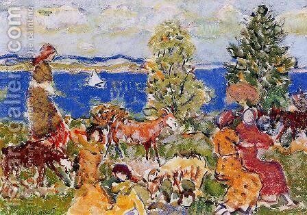 Summer Afternoon by Maurice Brazil Prendergast - Reproduction Oil Painting