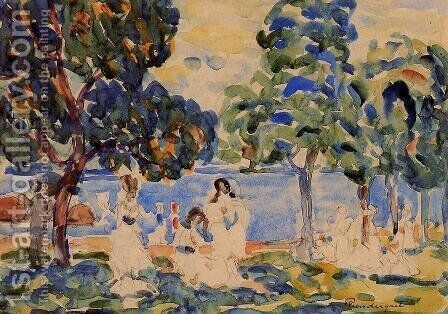 Summer Day by Maurice Brazil Prendergast - Reproduction Oil Painting