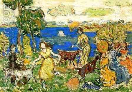 Summer Day Aka St  Cloud by Maurice Brazil Prendergast - Reproduction Oil Painting