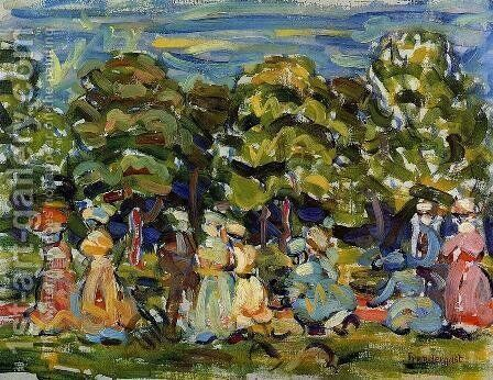 Summer In The Park by Maurice Brazil Prendergast - Reproduction Oil Painting