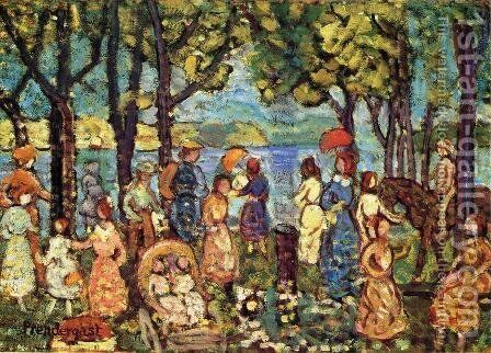 Summer  New England by Maurice Brazil Prendergast - Reproduction Oil Painting