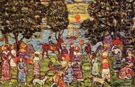 Sunset by Maurice Brazil Prendergast - Reproduction Oil Painting