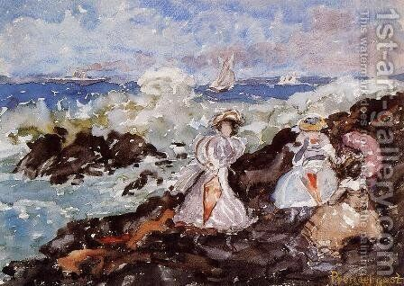 Surf  Cohasset by Maurice Brazil Prendergast - Reproduction Oil Painting