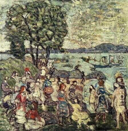 The Bathing Cove by Maurice Brazil Prendergast - Reproduction Oil Painting