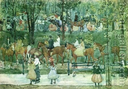 The Bridle Path  Central Park by Maurice Brazil Prendergast - Reproduction Oil Painting