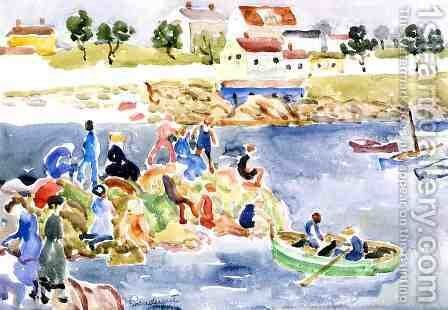 The Cove2 by Maurice Brazil Prendergast - Reproduction Oil Painting