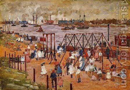 The East River by Maurice Brazil Prendergast - Reproduction Oil Painting
