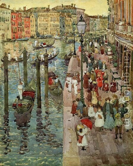The Grand Canal  Venice by Maurice Brazil Prendergast - Reproduction Oil Painting