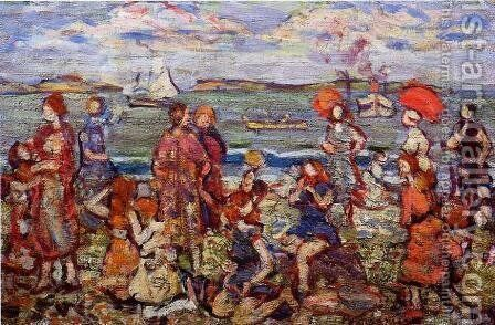 The Inlet3 by Maurice Brazil Prendergast - Reproduction Oil Painting