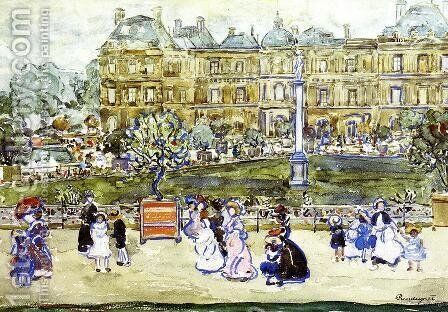 The Louvre by Maurice Brazil Prendergast - Reproduction Oil Painting