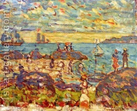 The Point  Gloucester by Maurice Brazil Prendergast - Reproduction Oil Painting