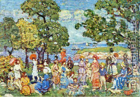 The Promenade2 by Maurice Brazil Prendergast - Reproduction Oil Painting