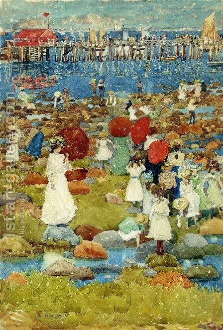 The Stony Beach  Ogunquit by Maurice Brazil Prendergast - Reproduction Oil Painting