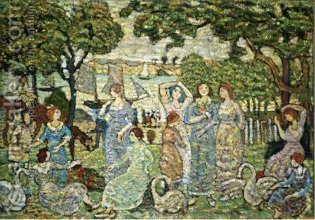 The Swans by Maurice Brazil Prendergast - Reproduction Oil Painting