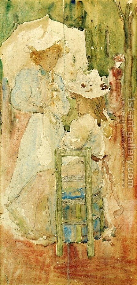 Two Women In A Park by Maurice Brazil Prendergast - Reproduction Oil Painting