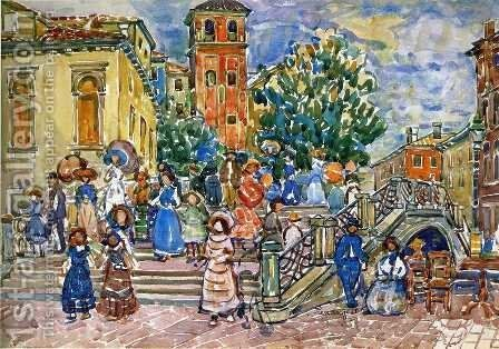 Venice by Maurice Brazil Prendergast - Reproduction Oil Painting
