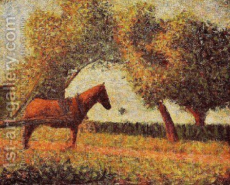 Horse by Georges Seurat - Reproduction Oil Painting