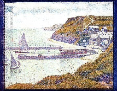 Port En Bessin  The Outer Harbor  High Tide by Georges Seurat - Reproduction Oil Painting