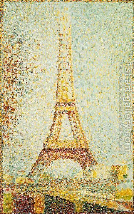 The Eiffel Tower 1889 by Georges Seurat - Reproduction Oil Painting